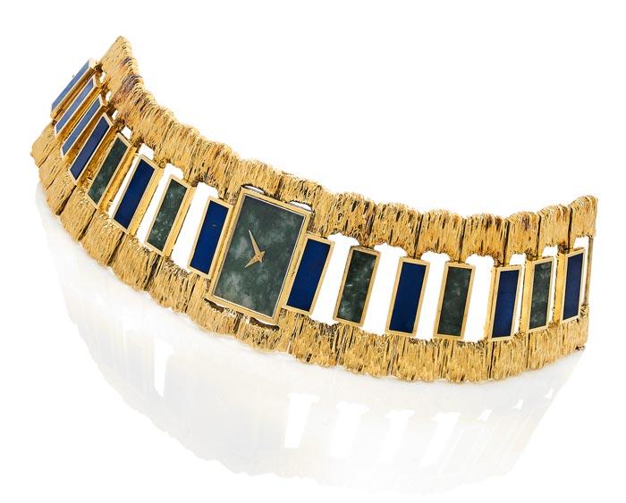 Piaget - En or, lapis-lazuli et néphrite - Estimée €10-15 000 - Vers 1969