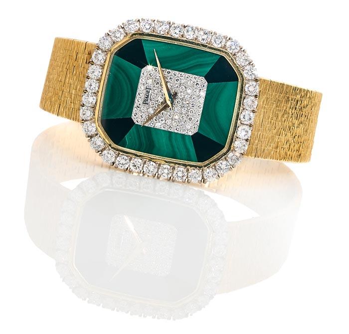 Piaget - Or, onyx, malachite et diamants - Estimé €6-8000 - Vers 1975