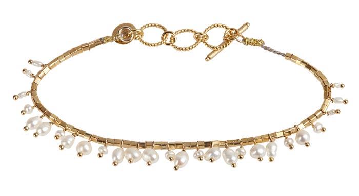 Bracelet en vermeil et perles d'eau douce 5 Octobre